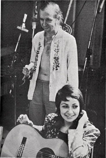 Bob and Lynn during recording of 'Noun' - Newall